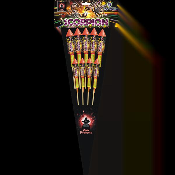 Scorpion rocket firework pack