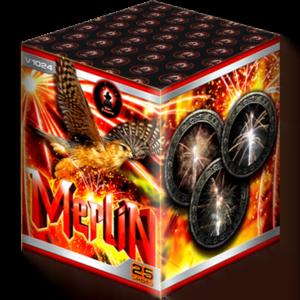 Merlin firework cake