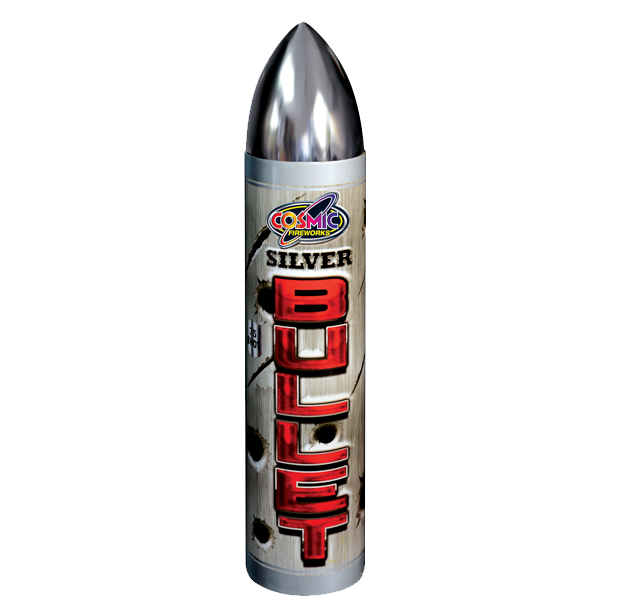 Silver Bullet Roman Candle Firework